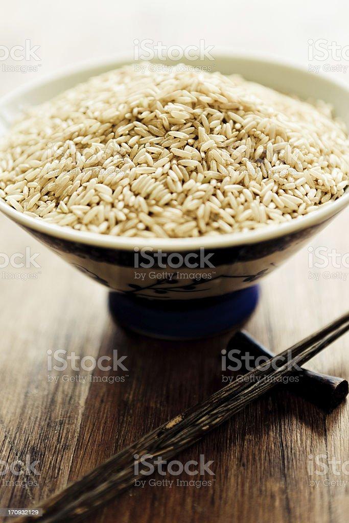 Rice Bowl and Chopsticks royalty-free stock photo