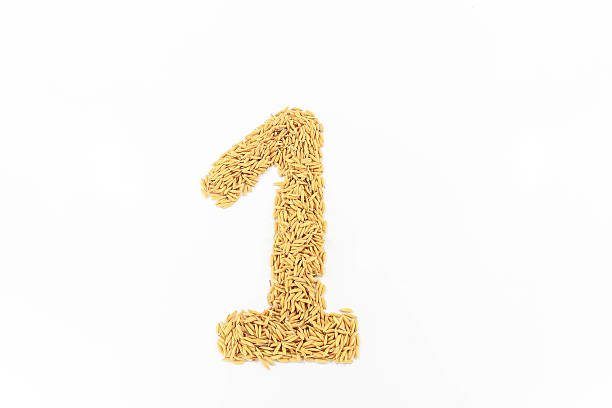 Rice brought sorted into number one. stock photo