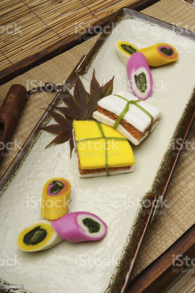 Rice cake stock photo