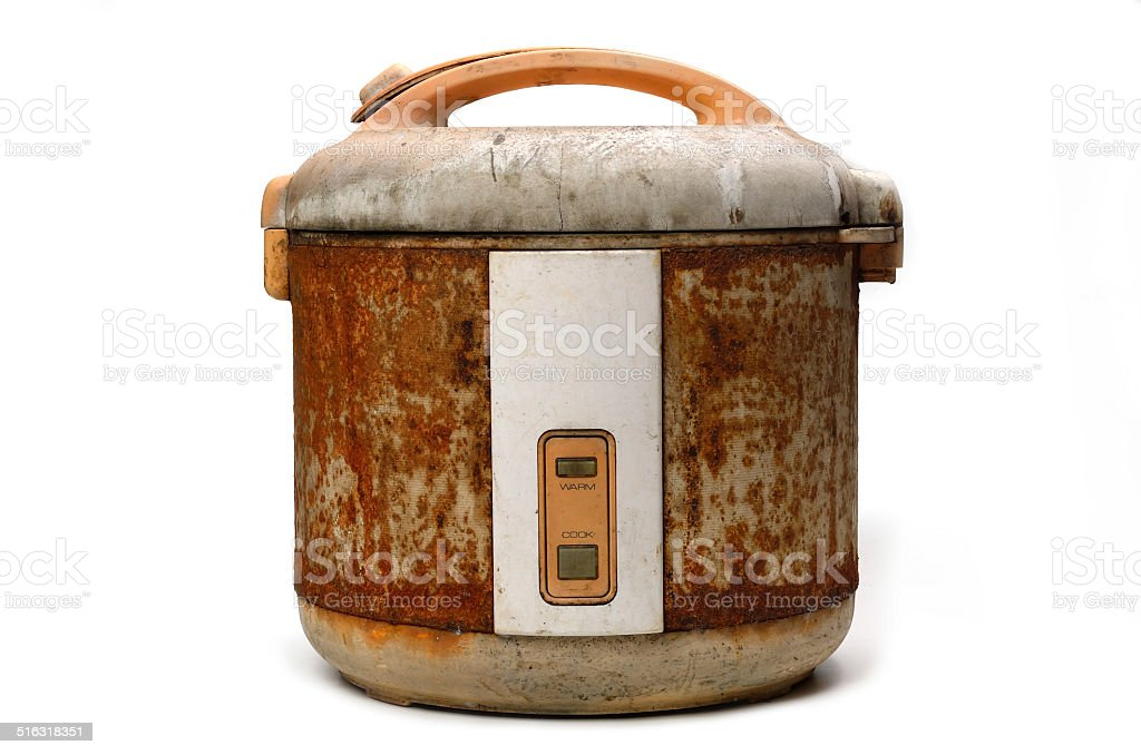Rice Cooker isolated stock photo