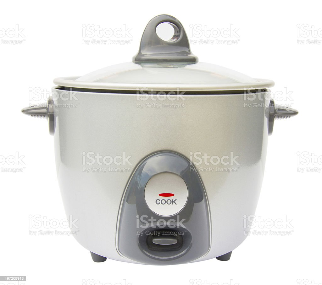 Rice cooker over white stock photo