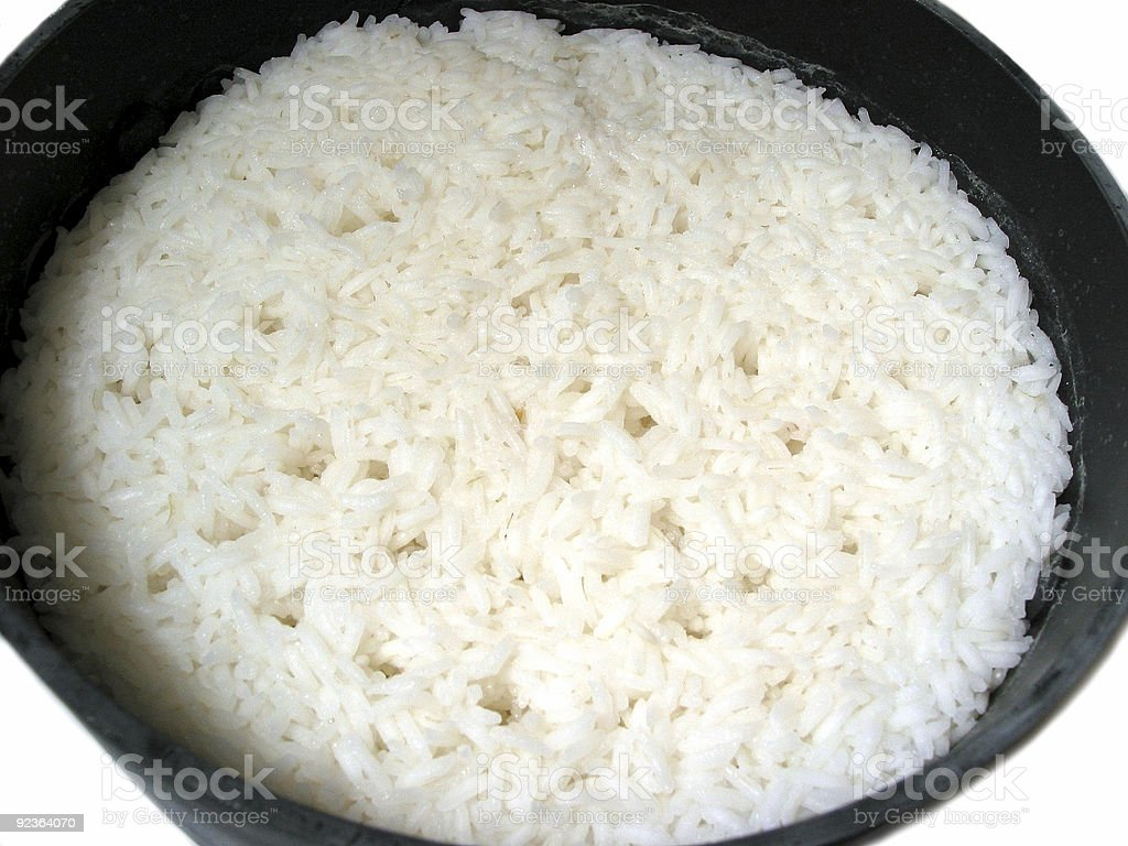 Rice cooking royalty-free stock photo