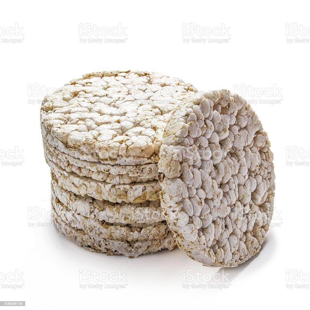 Rice cracker on white stock photo