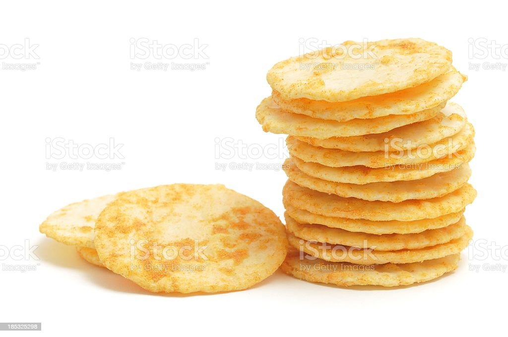 Rice Cracker stack stock photo