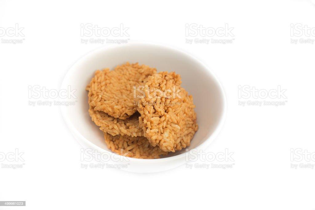 Rice crackers stock photo
