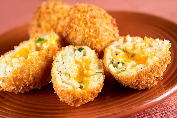 Rice Croquette stock photo