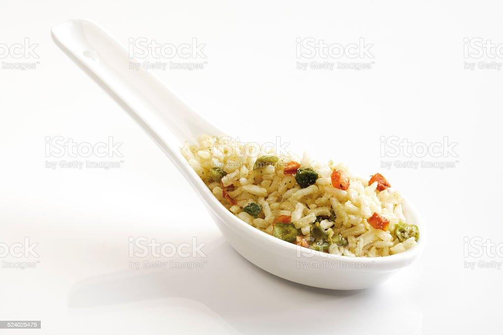 Prato de arroz, arroz de ervilhas - foto de acervo