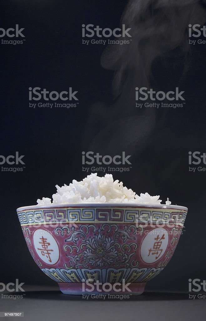 rice in a bowl royalty-free stock photo