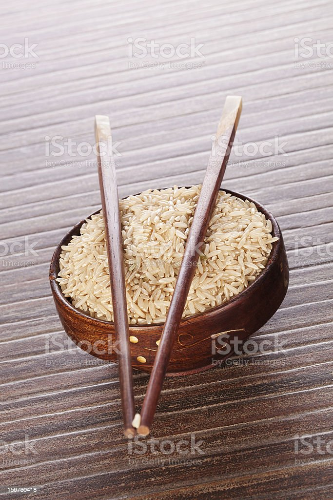 Rice in bowl. royalty-free stock photo