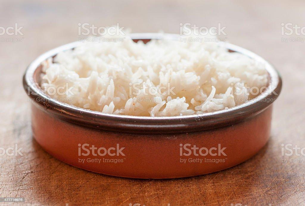Rice in bowl stock photo