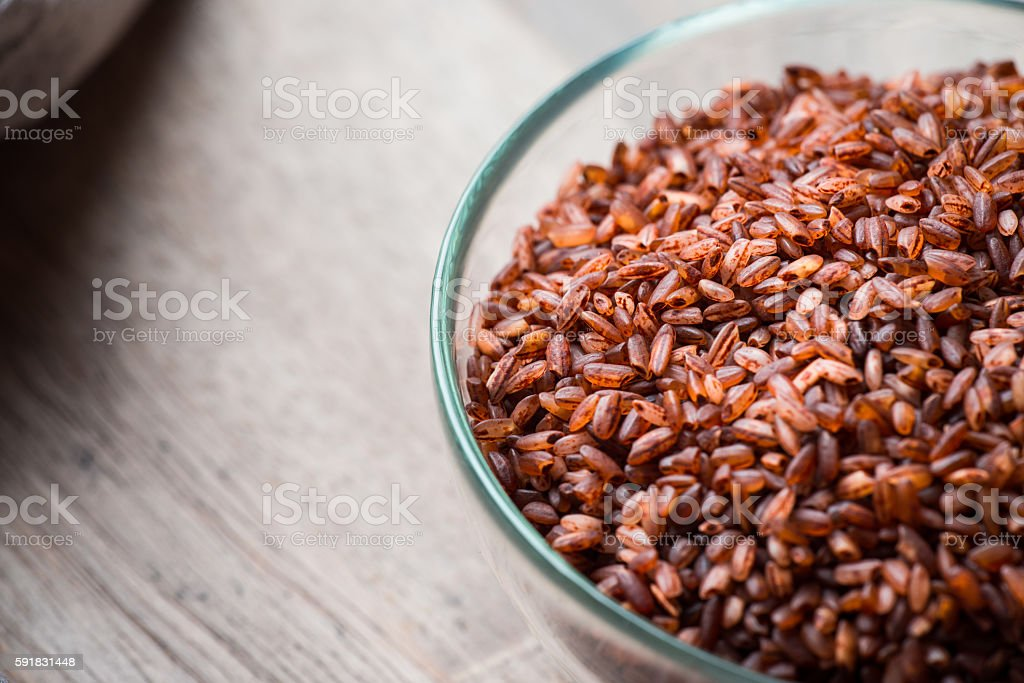 Rice in bowl stock photo