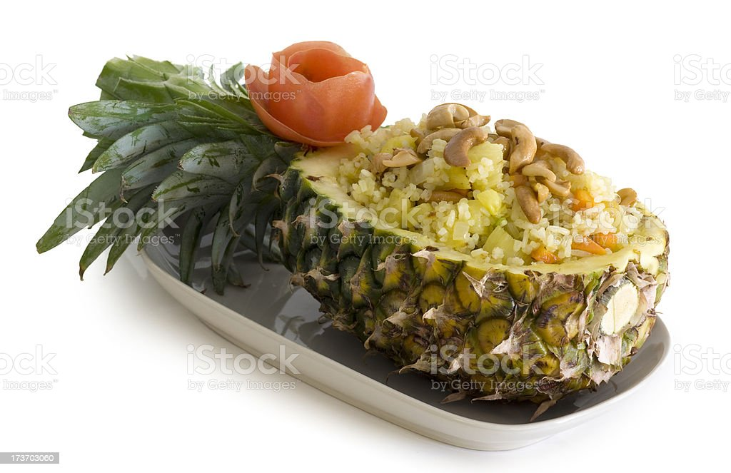 Rice in pineapple royalty-free stock photo