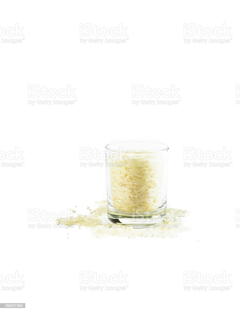 rice in small glass royalty-free stock photo