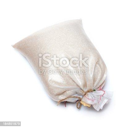 istock Rice isolated on white background 184851879