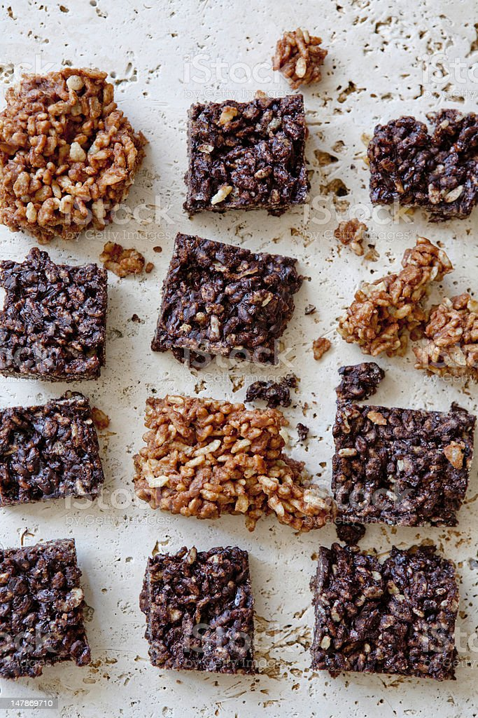 Rice Krispie Cookies stock photo