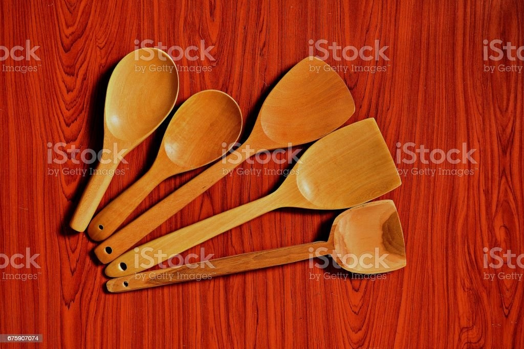 Rice ladle and ladle stock photo