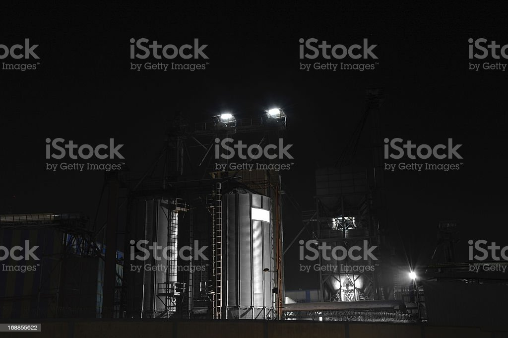 Rice Mill at Night royalty-free stock photo
