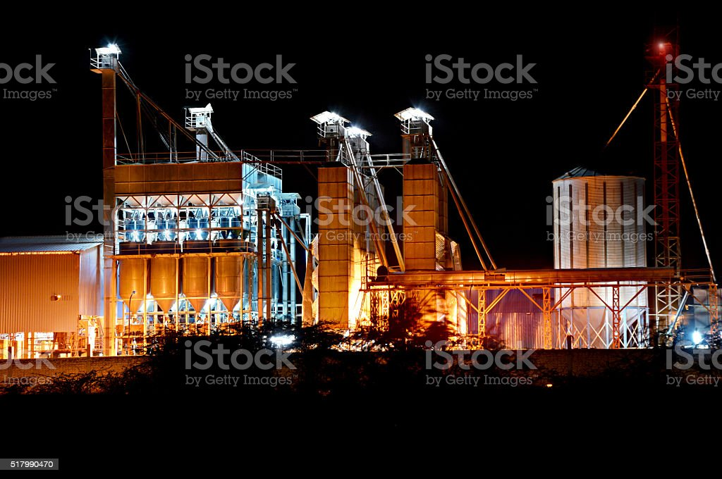 Rice Mill Factory stock photo
