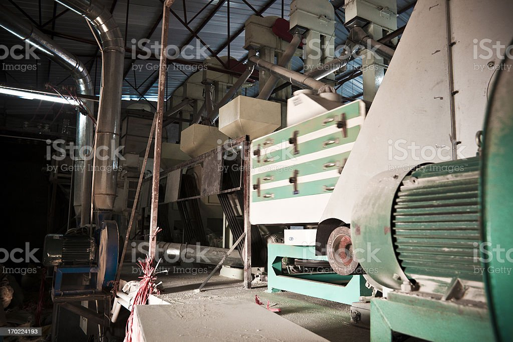 Rice mill Rice mill Agricultural Machinery Stock Photo