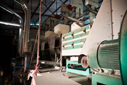 Rice Mill Stock Photo - Download Image Now
