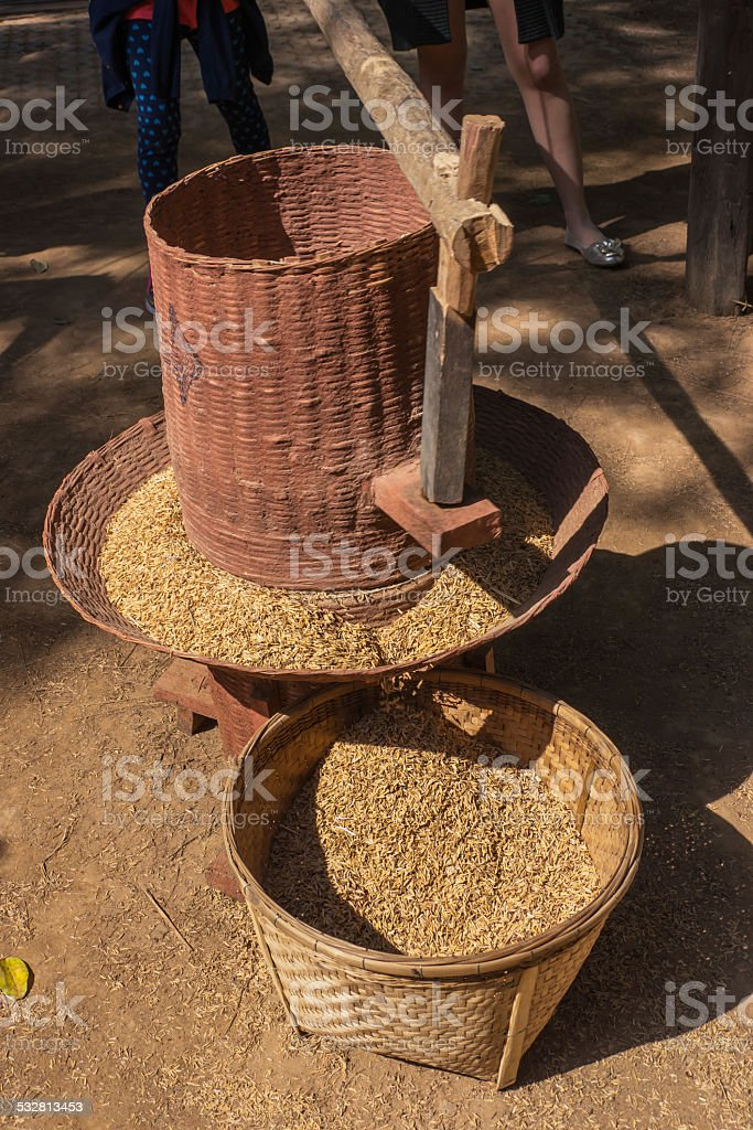 Rice mill stock photo