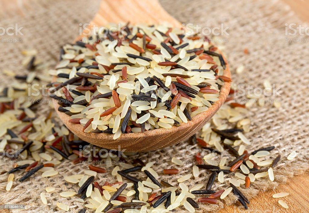 rice mix stock photo