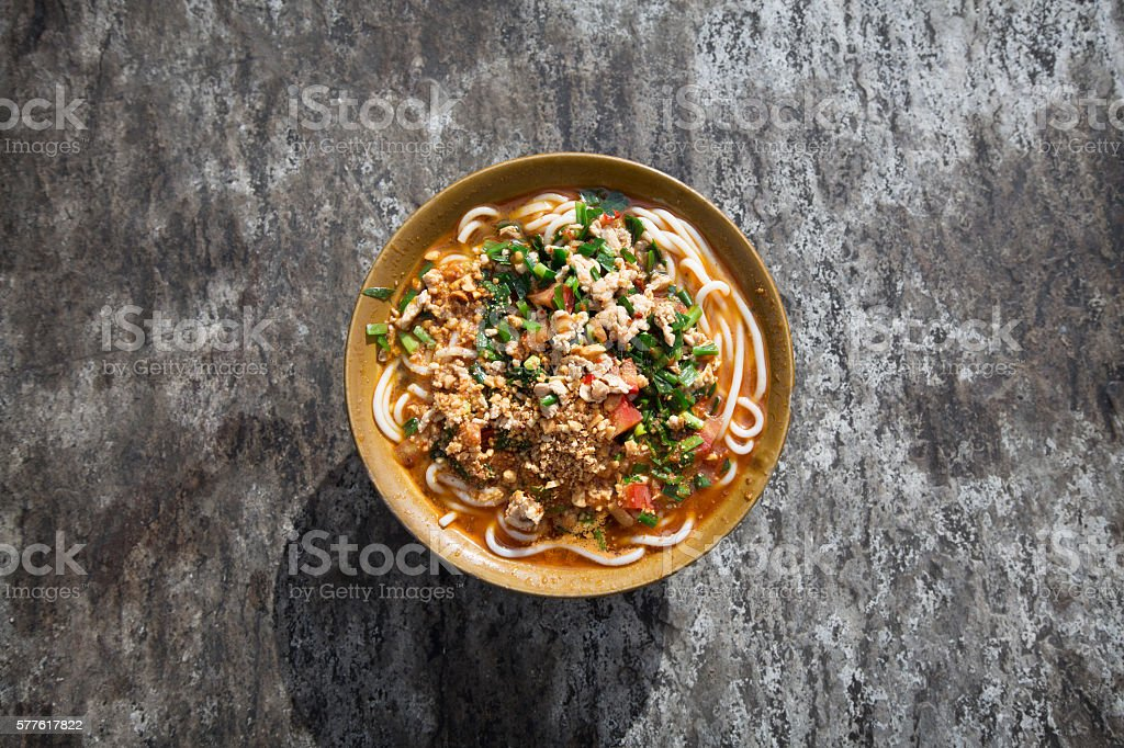 Rice noodle stock photo