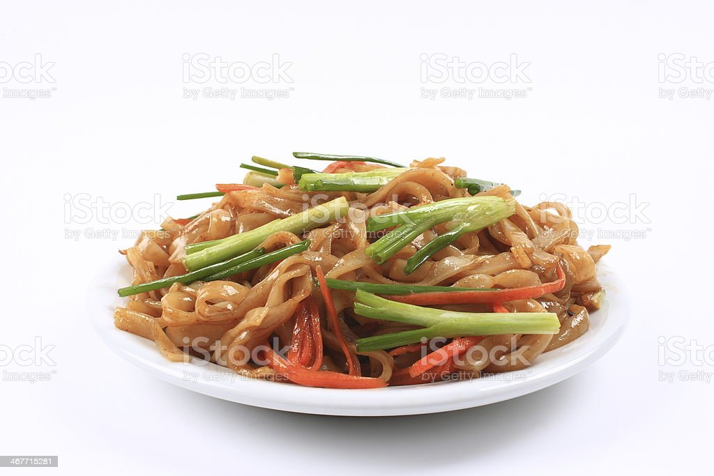 Rice noodles stock photo