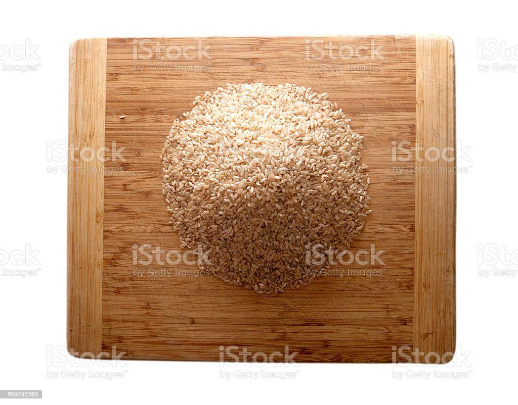 Rice on table royalty-free stock photo