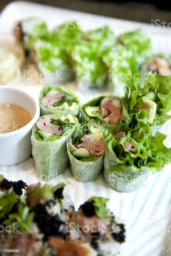 Rice Paper Rolls royalty-free stock photo