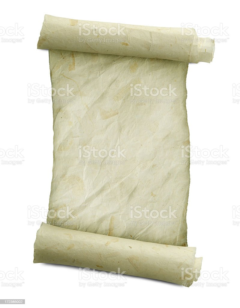 Rice Paper Scroll royalty-free stock photo