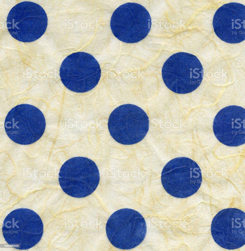 Rice Paper Texture - Blue Polka Dots XXXXL royalty-free stock photo