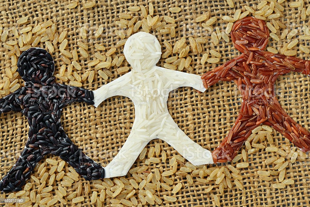 Rice people chain - foto de stock