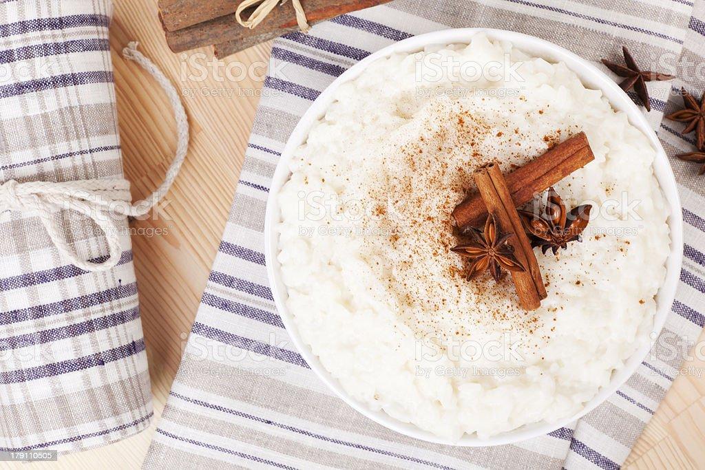 Pudim de arroz. - foto de acervo