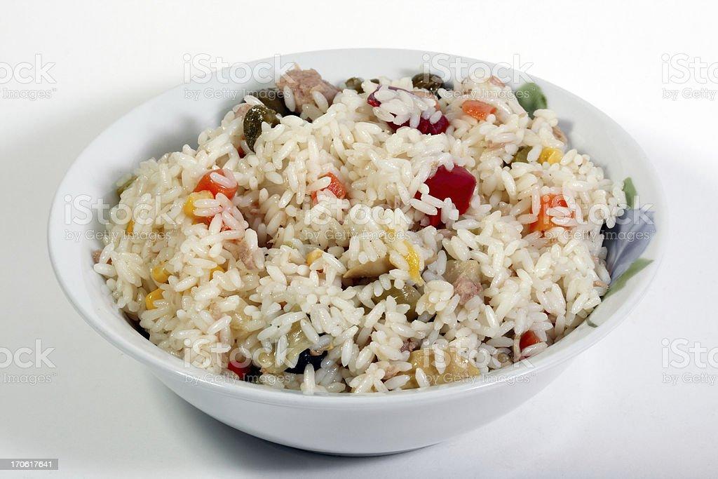 Rice salad stock photo