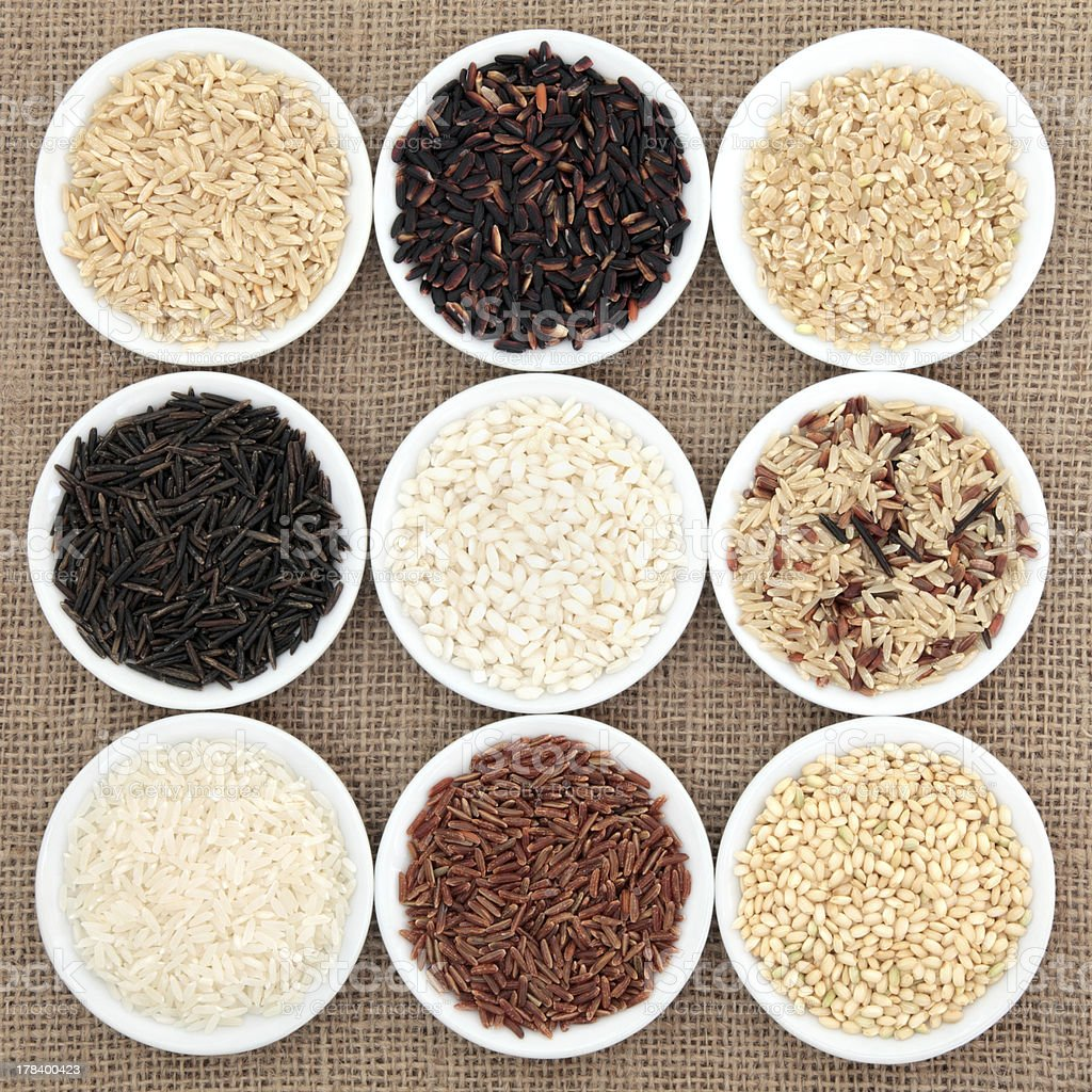 Rice Selection royalty-free stock photo