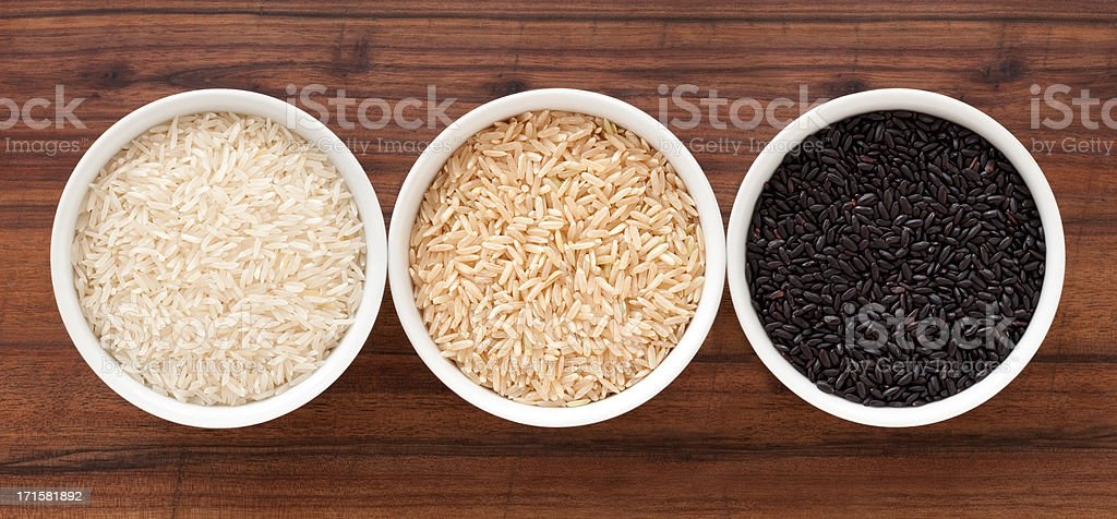 Rice varieties stock photo