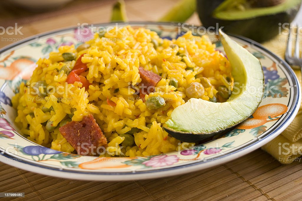 Arroz Con Gandules stock photo