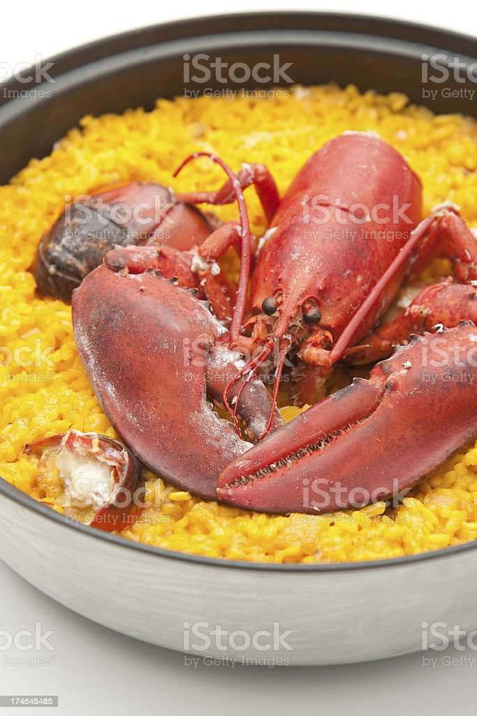 rice with lobster royalty-free stock photo