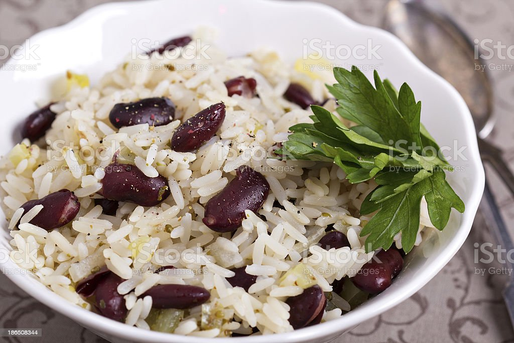 Rice with red beans royalty-free stock photo
