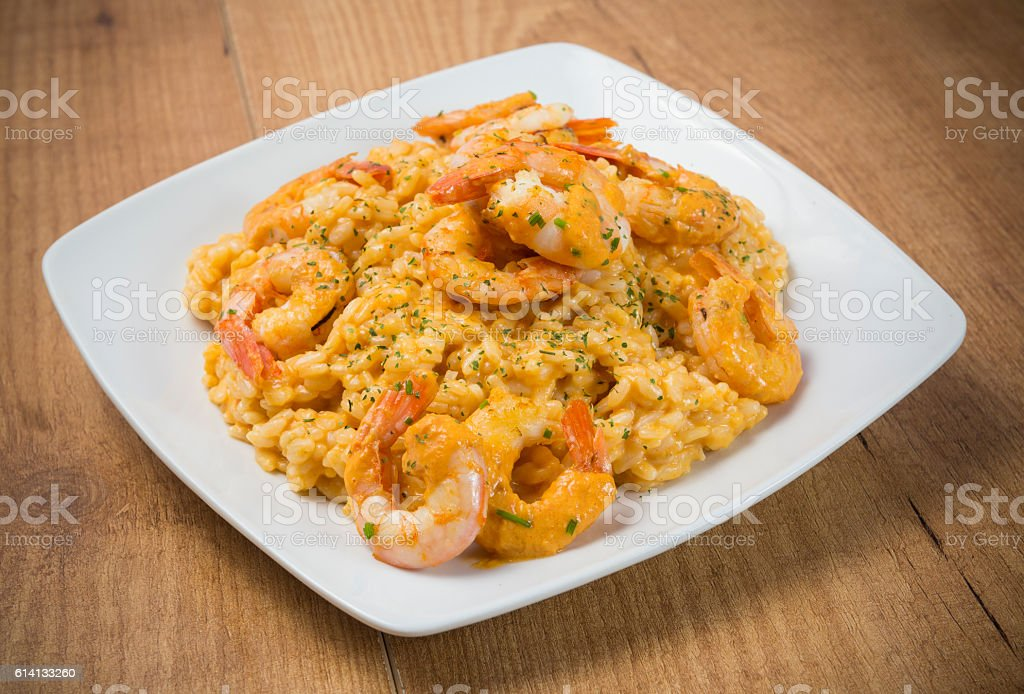 Riz avec des crevettes - Photo de Aliment libre de droits