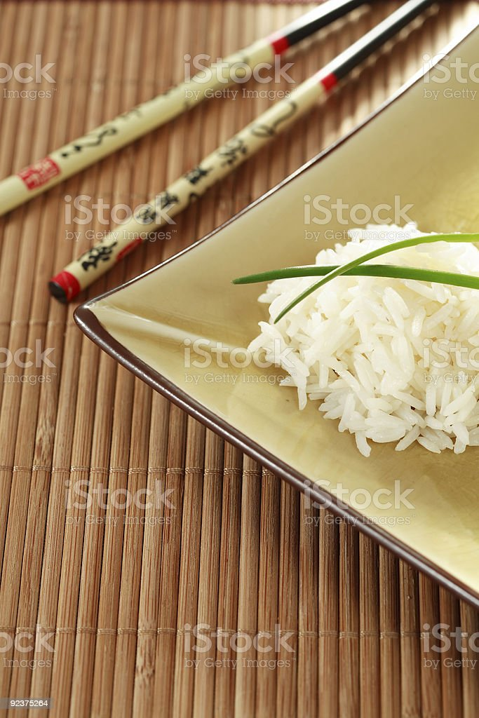 Rice with sticks royalty-free stock photo