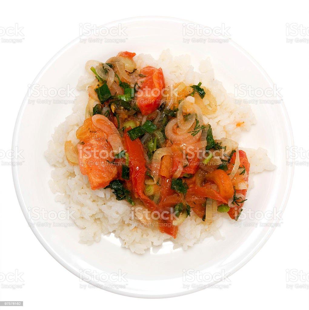 Riz aux légumes photo libre de droits