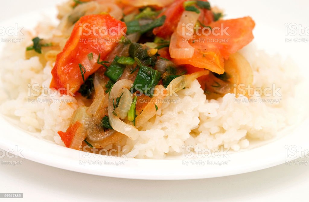 rice with vegetable royalty-free stock photo