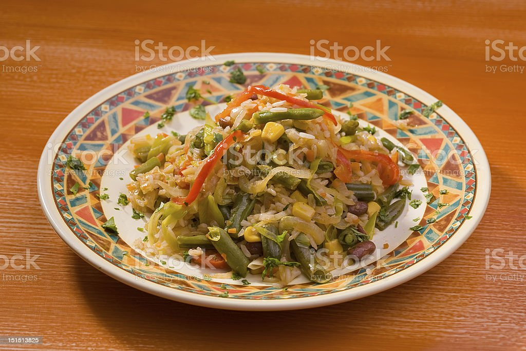 Rice with vegetables royalty-free stock photo
