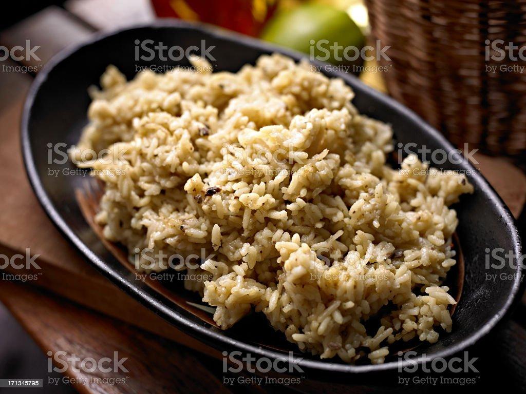 Rice wtih Chicken stock photo