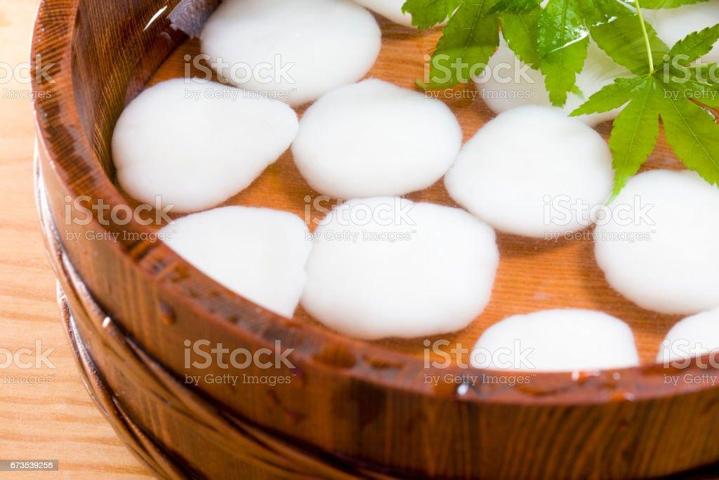 Rice-flour dumplings royalty-free stock photo
