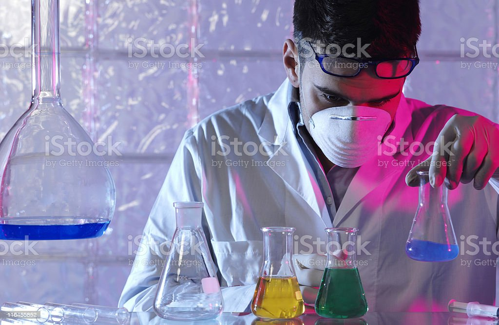 ricercatore in laboratorio royalty-free stock photo