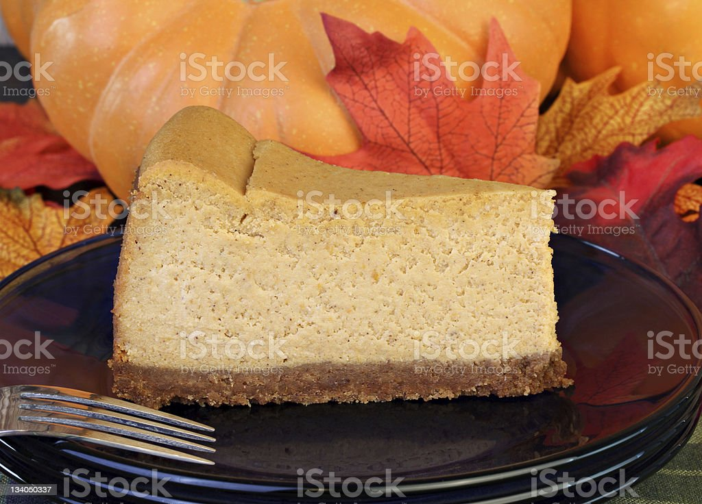 Rich and creamy Pumpkin Cheesecake royalty-free stock photo