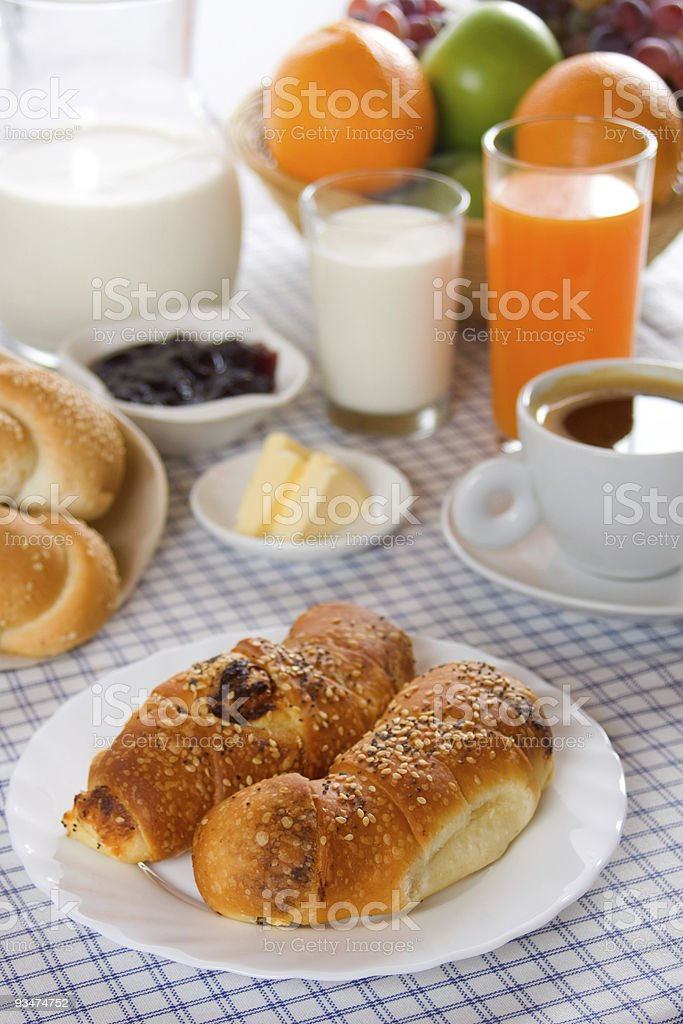Rich and healthy breakfast royalty-free stock photo